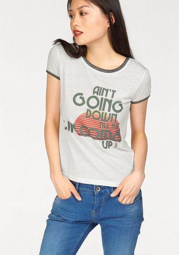 khujo Print-Shirt Molly Sun, mit Frontdruck