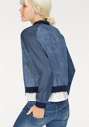 Pepe Jeans Bomber Jacket Willow, Lyocell In Printed