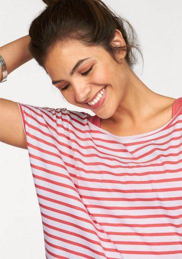 AJC 2-in-1-Kleid (Set, 2 tlg., mit T-Shirt), im Streifen-Look aus Jersey