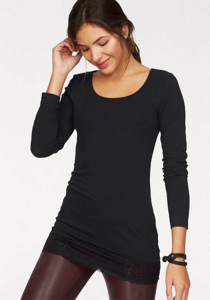 585962b10effbd AJC Longshirt mit schöner Spitze am Saum kaufen