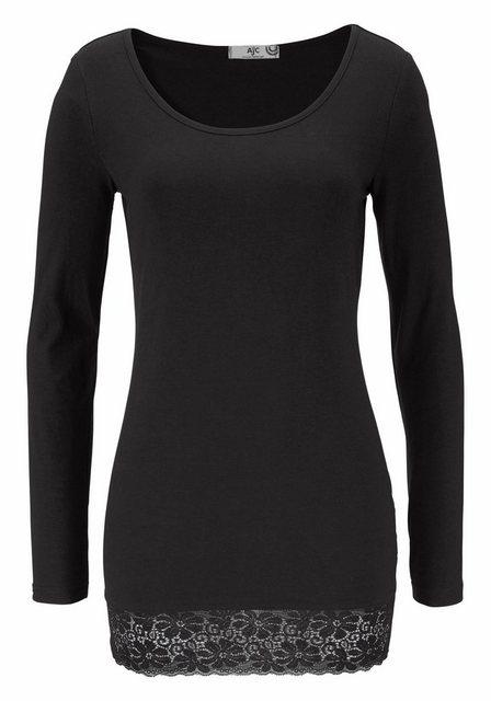 AJC Longshirt mit schöner Spitze am Saum | Bekleidung > Shirts > Longshirts | AJC