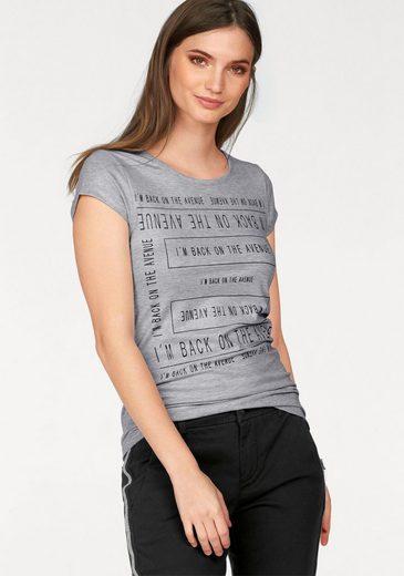 Laura Scott Print-Shirt, aus gläzendem Material
