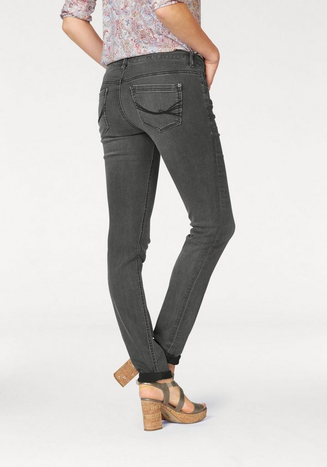 Tom Tailor Slim-fit-Jeans »Carrie« in grey-denim