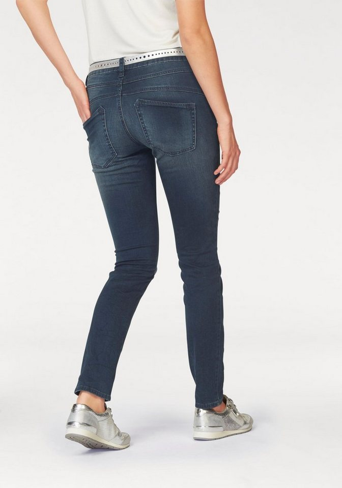 Tom Tailor 5-Pocket-Jeans mit button fly in stone-washed