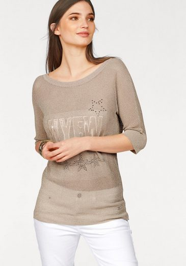 Laura Scott Strickpullover, mit Glitzergarn