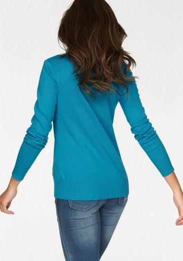 Ajc Sweater With V-neck In Basic Form