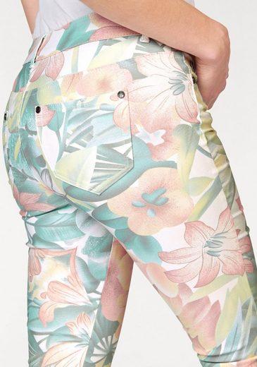AJC Röhrenhose, mit Blumendruck