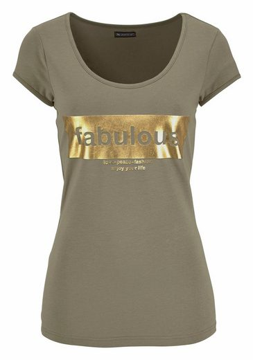 Laura Scott T-Shirt, mit Glanzprint