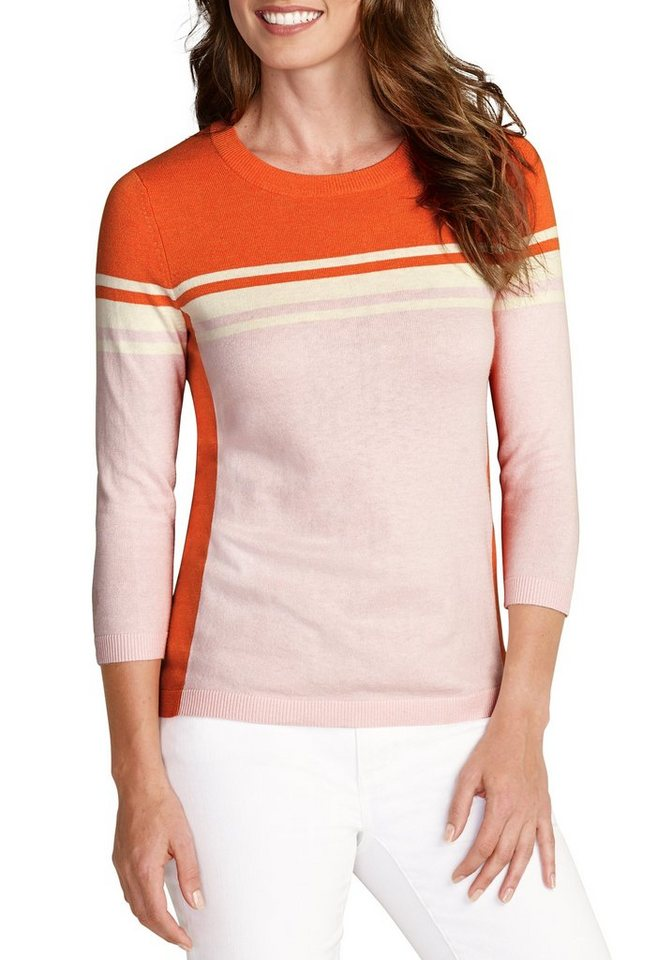 Eddie Bauer Pullover mit Colorblock in Rauchiges Koralle