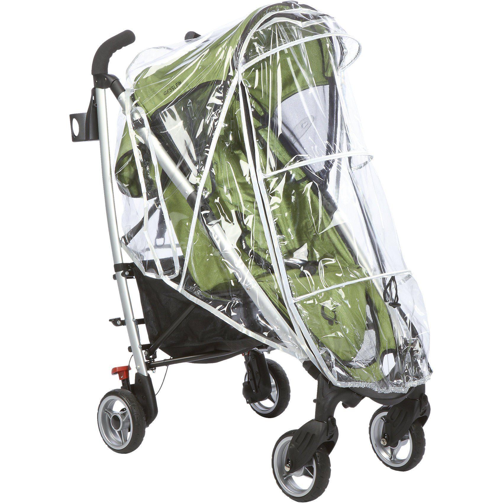 GESSLEIN Regenschutz mit Reflektoren für Kinderwagen und Buggys