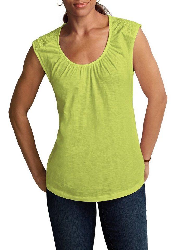 Eddie Bauer Shirt-Tunika in Limette