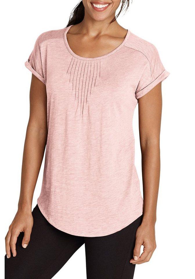 Eddie Bauer T-Shirt mit Biesen in Helles Rosé