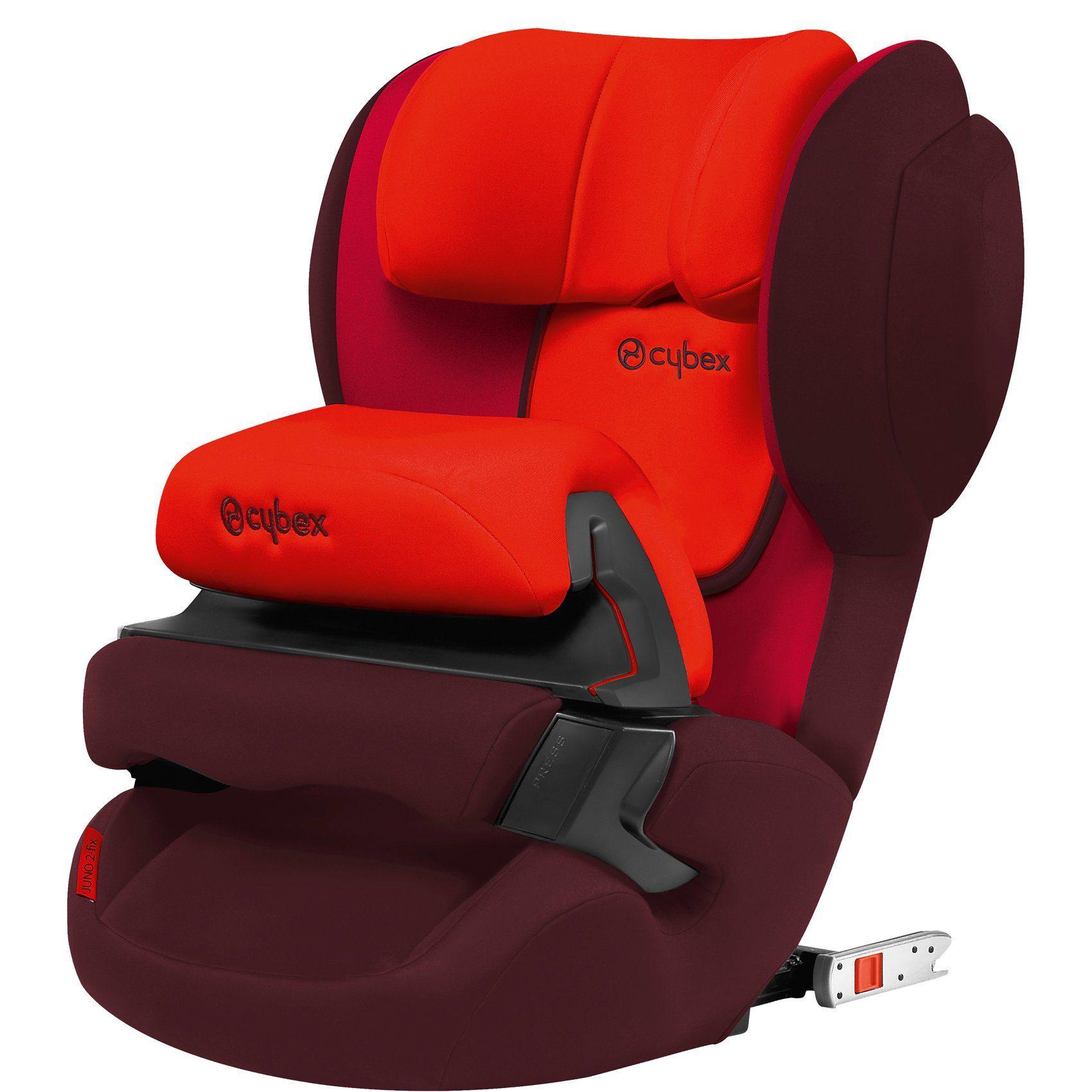 Cybex Auto-Kindersitz Juno 2-Fix, Silver-Line, Rumba Red-Dark Red