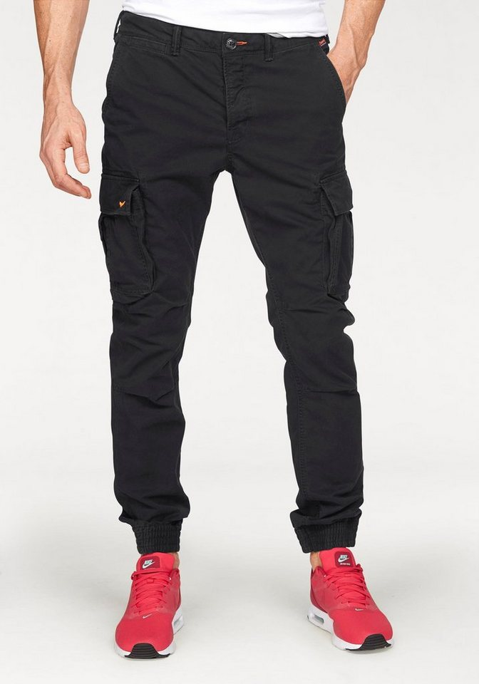 Superdry Cargohose »ROOKIE GRIP CARGO« in anthrazit