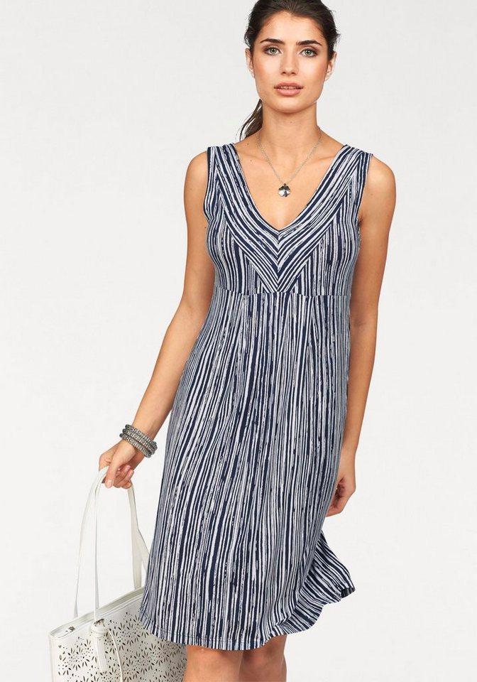 Boysen's Jerseykleid im figurschmeichendem Streifen-Design in marine-weiß-gestreift