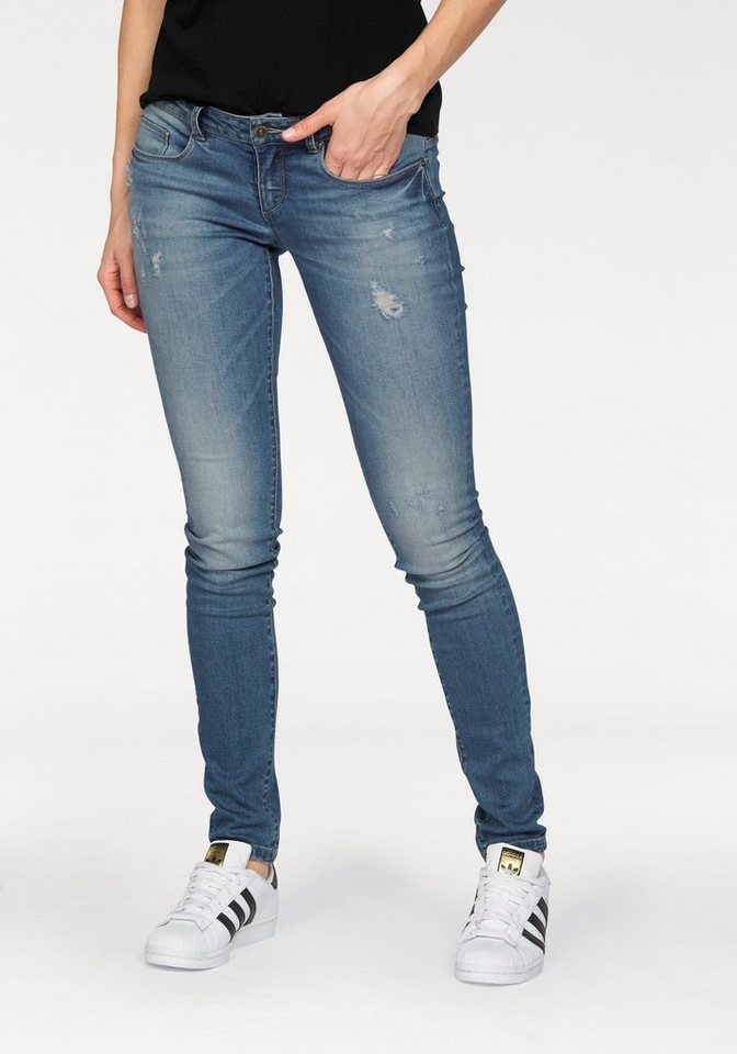 Only Destroyed-Jeans »CARMEN« Mit Destroyed-Effekten in medium-blue-denim