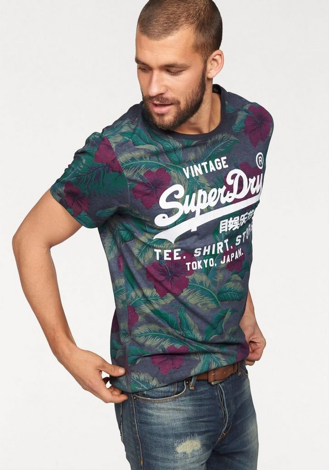 Superdry T-Shirt »SURF STORE TEE« in dunkelgrün