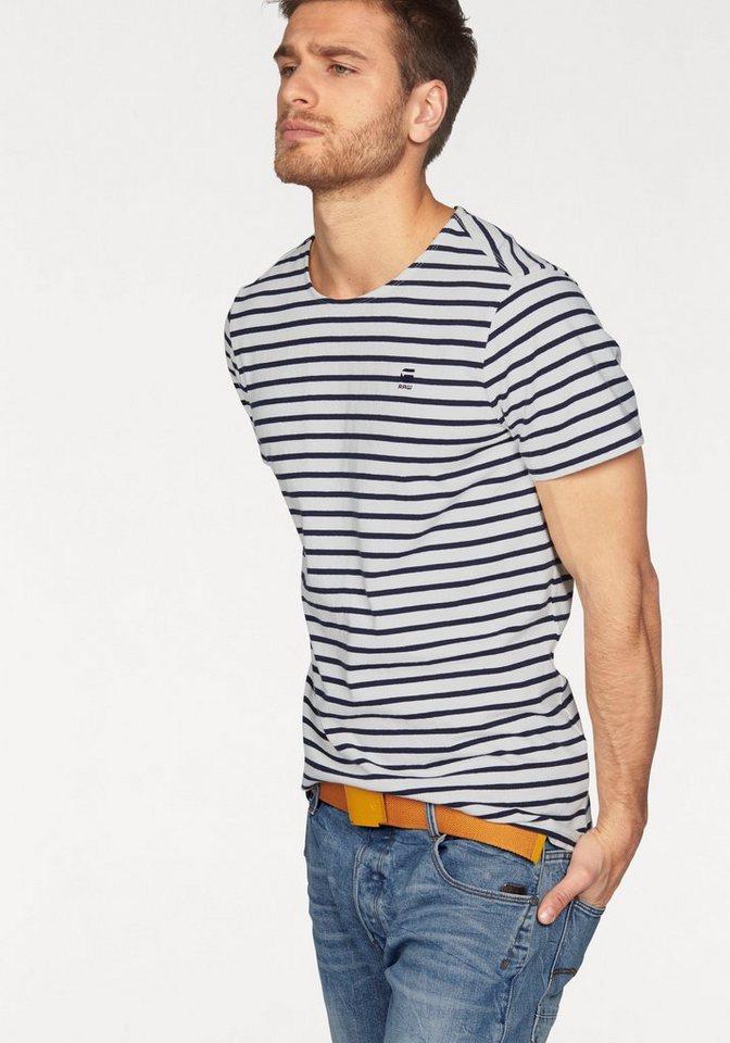 G-Star T-Shirt »Xartto Tee« in weiß-blau
