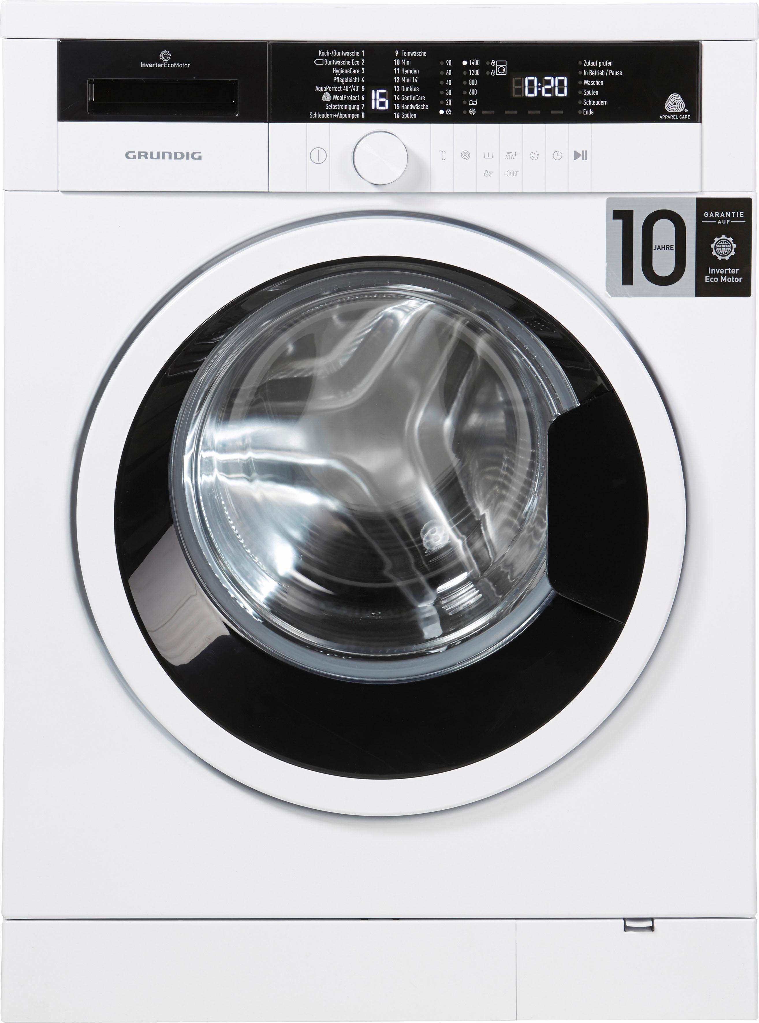 Grundig Waschmaschine GWO 37430 WB, A+++, 7 kg, 1400 U/Min