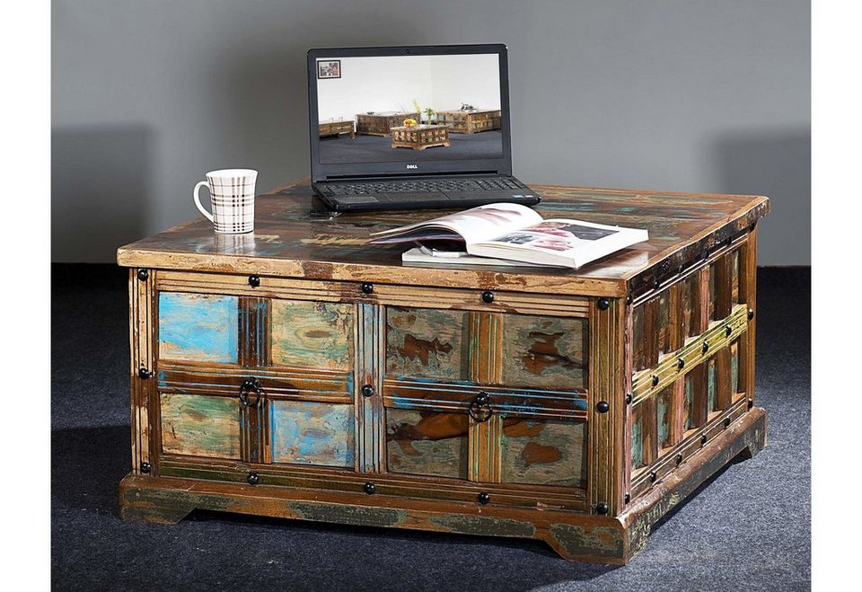 the wood times truhen couchtisch delhi breite 90 cm online kaufen otto. Black Bedroom Furniture Sets. Home Design Ideas