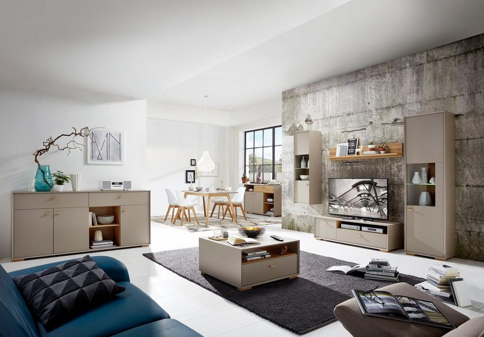 h ngevitrine calvi h he 140 cm online kaufen otto. Black Bedroom Furniture Sets. Home Design Ideas