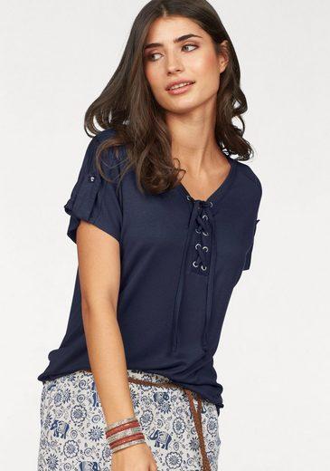 Boysen's T-Shirt, mit trendiger Schnürung
