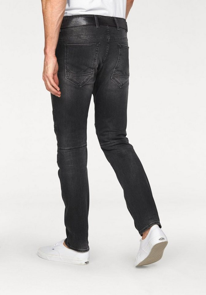 Jack & Jones Slim-fit-Jeans »Glenn« in black-used