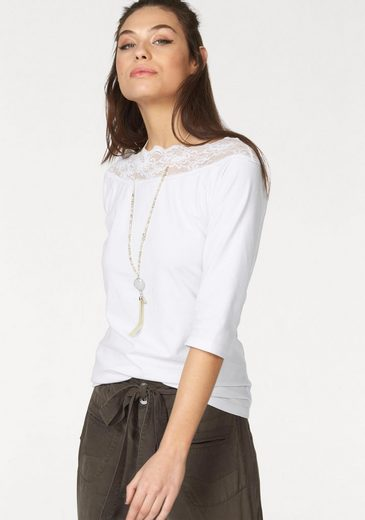 Cream Carmen Chanet Shirt, With Peak