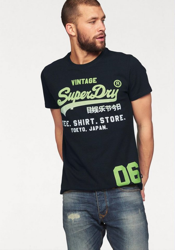 superdry t shirt shirt shop fade tee kaufen otto. Black Bedroom Furniture Sets. Home Design Ideas