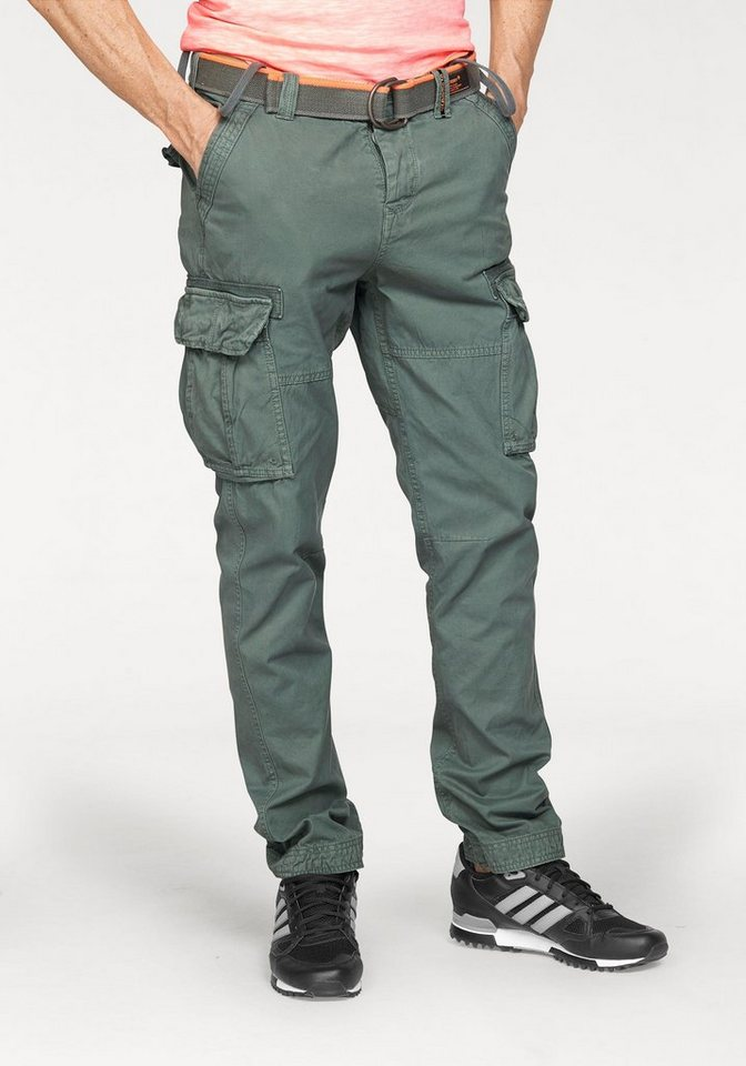 superdry cargohose core cargo lite pant set mit g rtel. Black Bedroom Furniture Sets. Home Design Ideas
