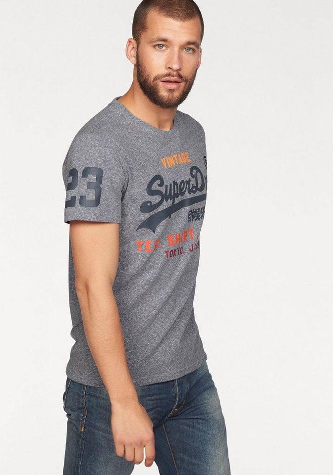 Superdry T-Shirt »SHIRT SHOP TEE« in grau