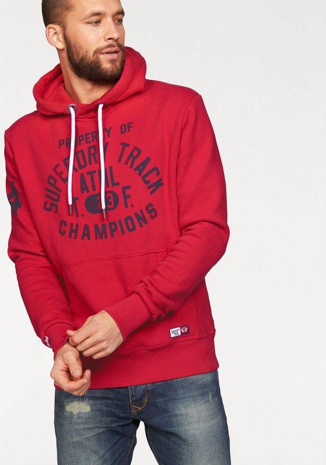 Superdry Kapuzensweatshirt »Trackster Vintage Hood« in red
