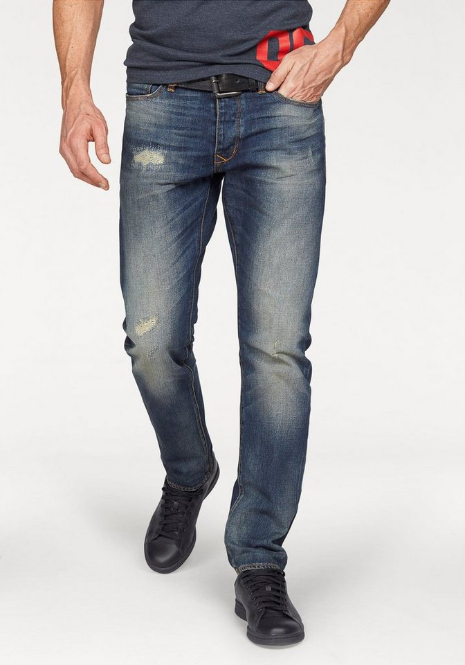 Superdry Destroyed-Jeans »BIKER TAPERED JEAN Dirty Repair« in dirty-used