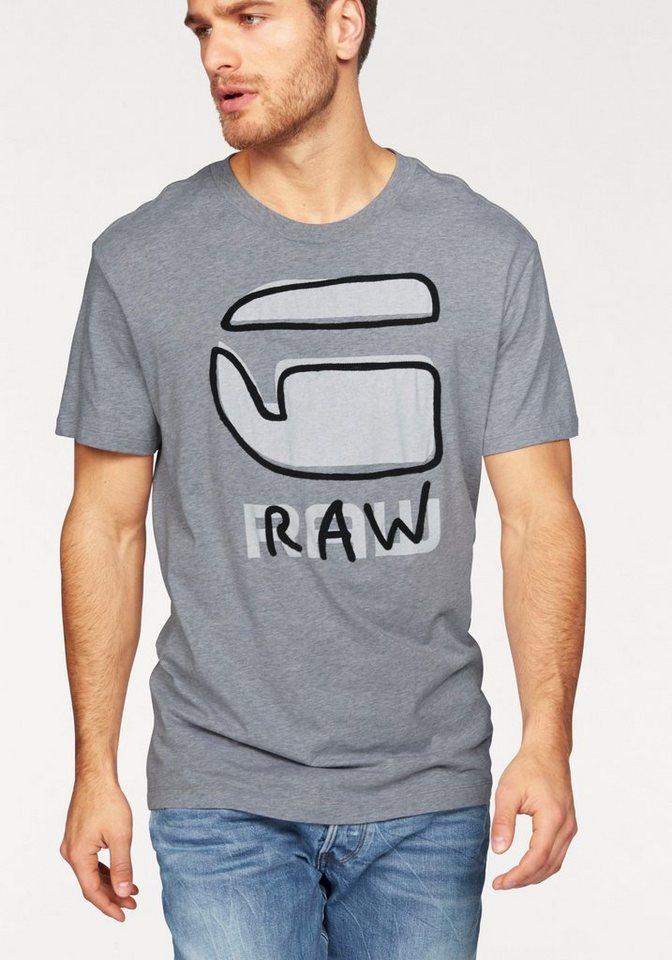 G-Star T-Shirt »Relax Tee« in grau-meliert