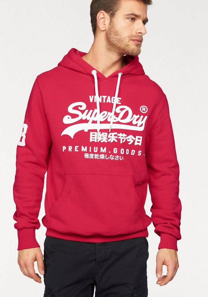 Superdry Kapuzensweatshirt »PREMIUM GOODS HOOD« in rot