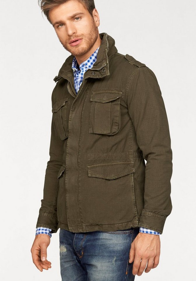 Superdry Military-Jacke »NEW MODEL ROOKIE MILITARY JACKET« in olivgrün