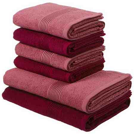 Handtuch Set, my home, »Anna«, mit gestreifter Strukturbordüre