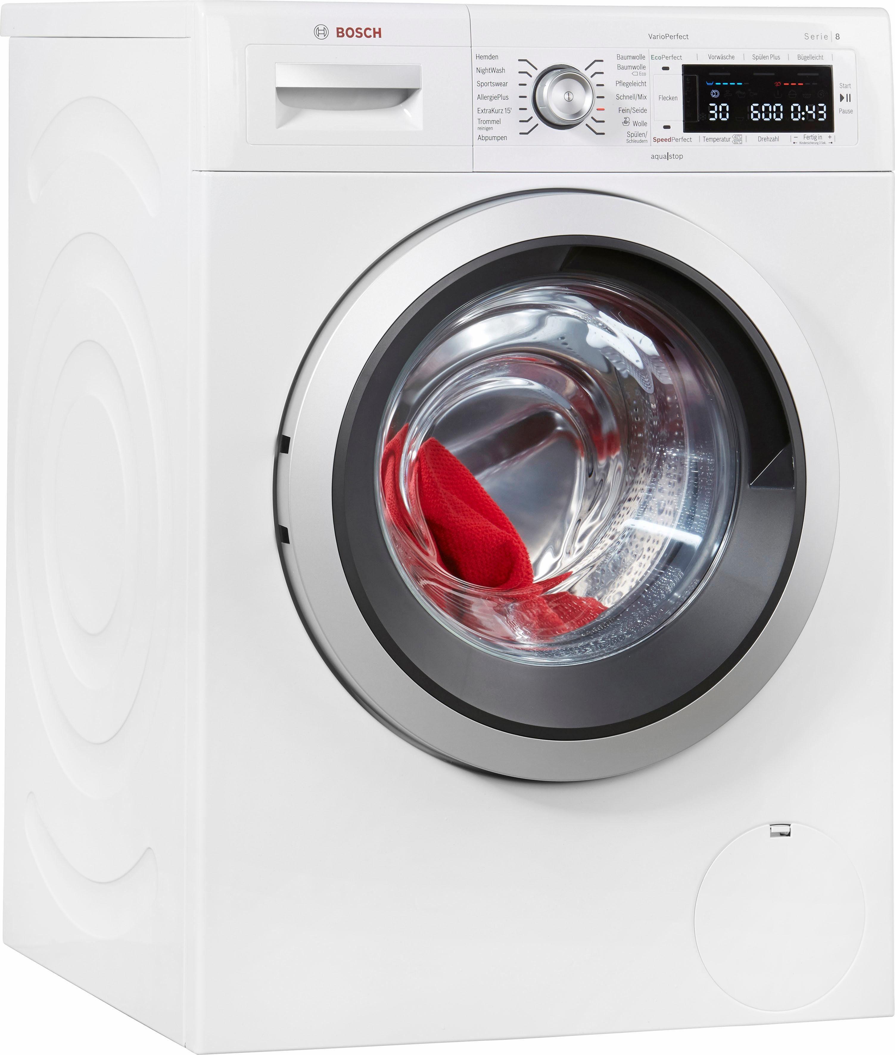 BOSCH Waschmaschine Serie 8 WAW32541, A+++, 8 kg, 1600 U/Min