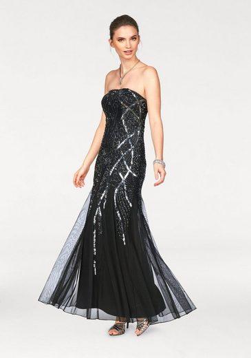 Laura Scott Abendkleid, mit Pailettenstickerei