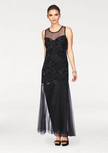 Laura Scott Abendkleid, mit aufgestickten Pailetten