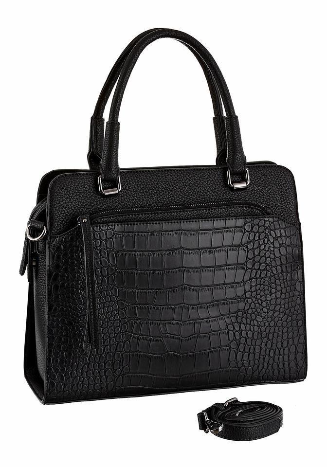 Laura Scott Henkeltasche mit herausnehmbarer gratis Tasche in schwarz