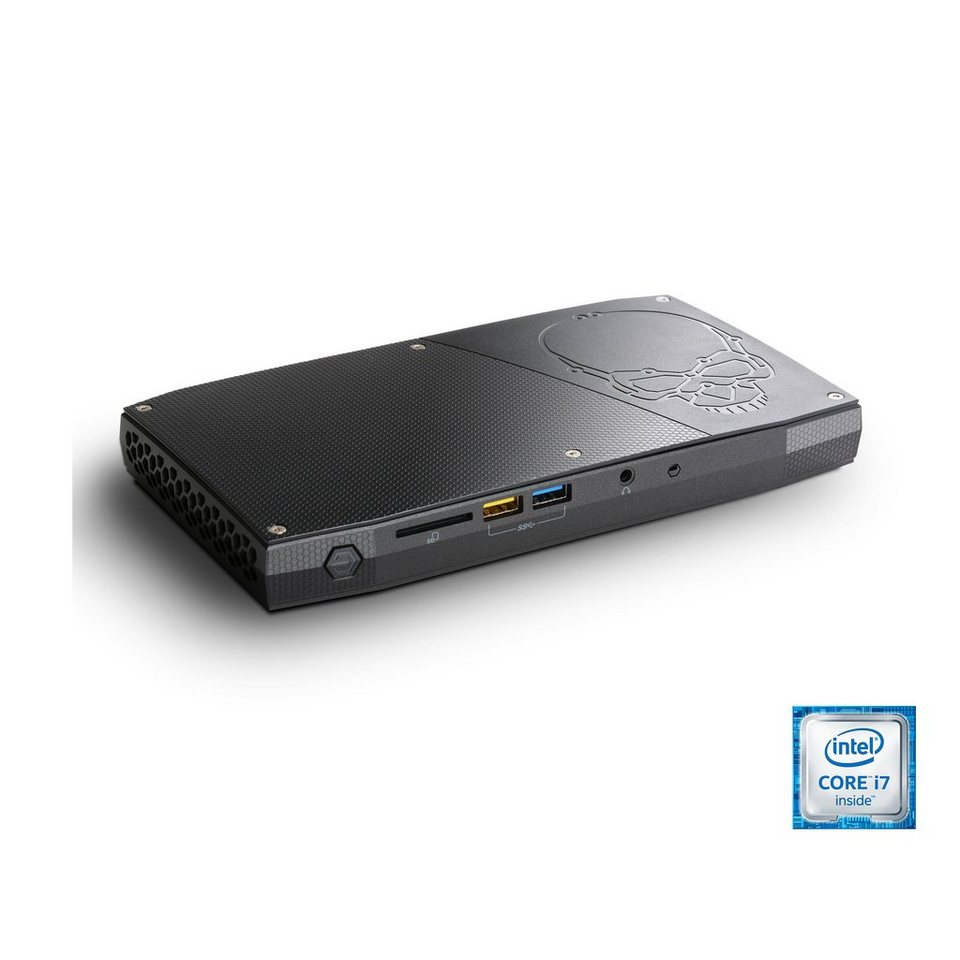 CSL Mini PC | Core i7-6770HQ | Intel HD 580 | 8GB DDR4 | SSD »Intel NUC Core i7-6770HQ Windows 10« in schwarz