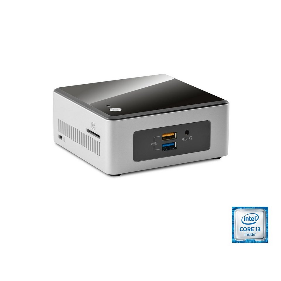 CSL Mini PC | Core i3-6100U | Intel HD 520 | 8 GB DDR4 | 240GB SSD »Intel NUC i3-6100U Windows 10« in schwarz