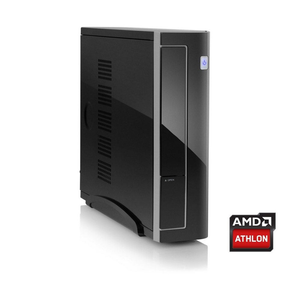 CSL Mini PC | AMD Athlon 5350 | HD 8400 | 4 GB RAM | 120 GB SSD »Mini-ITX 5350 Windows 10« in schwarz
