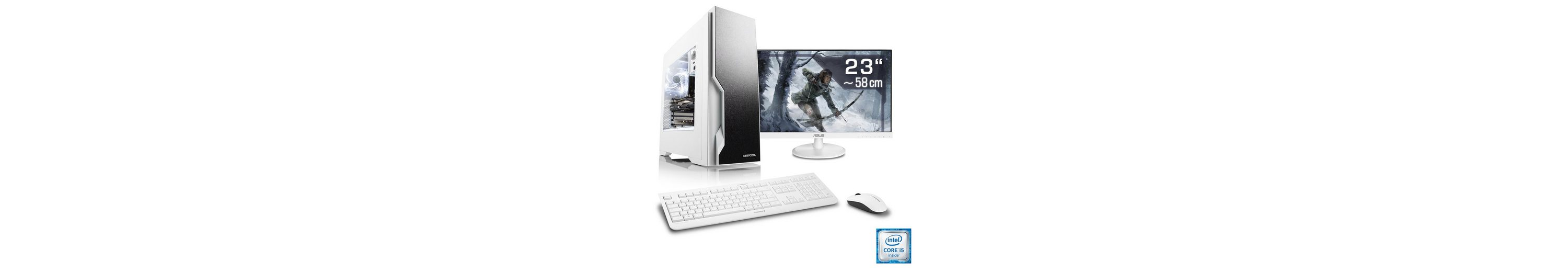 "CSL Gaming PC Set | Core i5-6600 | RX 470 | 16GB RAM | SSD | 23"" TFT »Speed T5699 Windows 10 Home«"