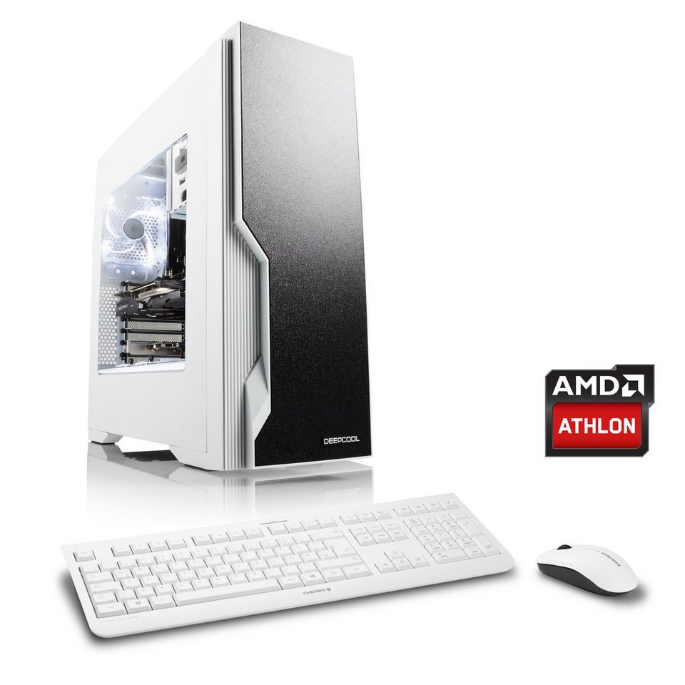 CSL Gaming PC | AMD Athlon X4 880K | GeForce GTX 1050 Ti | 8 GB RAM »Levitas T4340 Windows 10«
