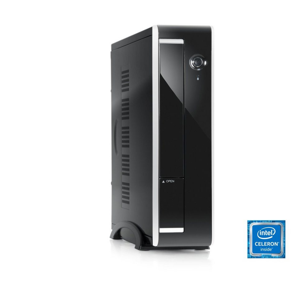 CSL Mini PC | Intel Q1900 | Intel HD Grafik | 8GB DDR3 | SSD »Ultra Silent Q1900-5 Windows 10« in schwarz
