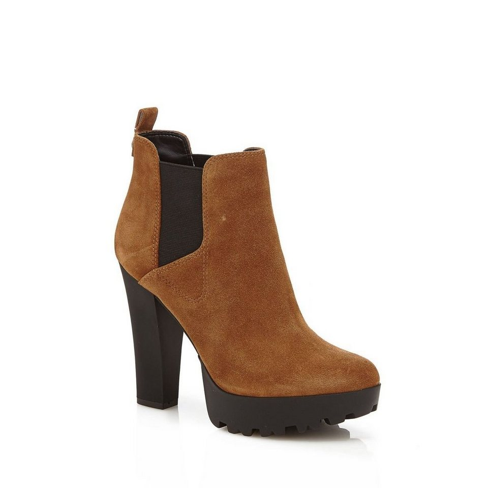 Guess ANKLE BOOT CLANI VELOURSLEDER in Braun