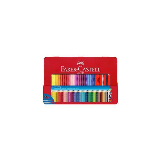 Faber-Castell COLOUR GRIP Buntstifte wasservermalbar, 48 Farben & Zubehör