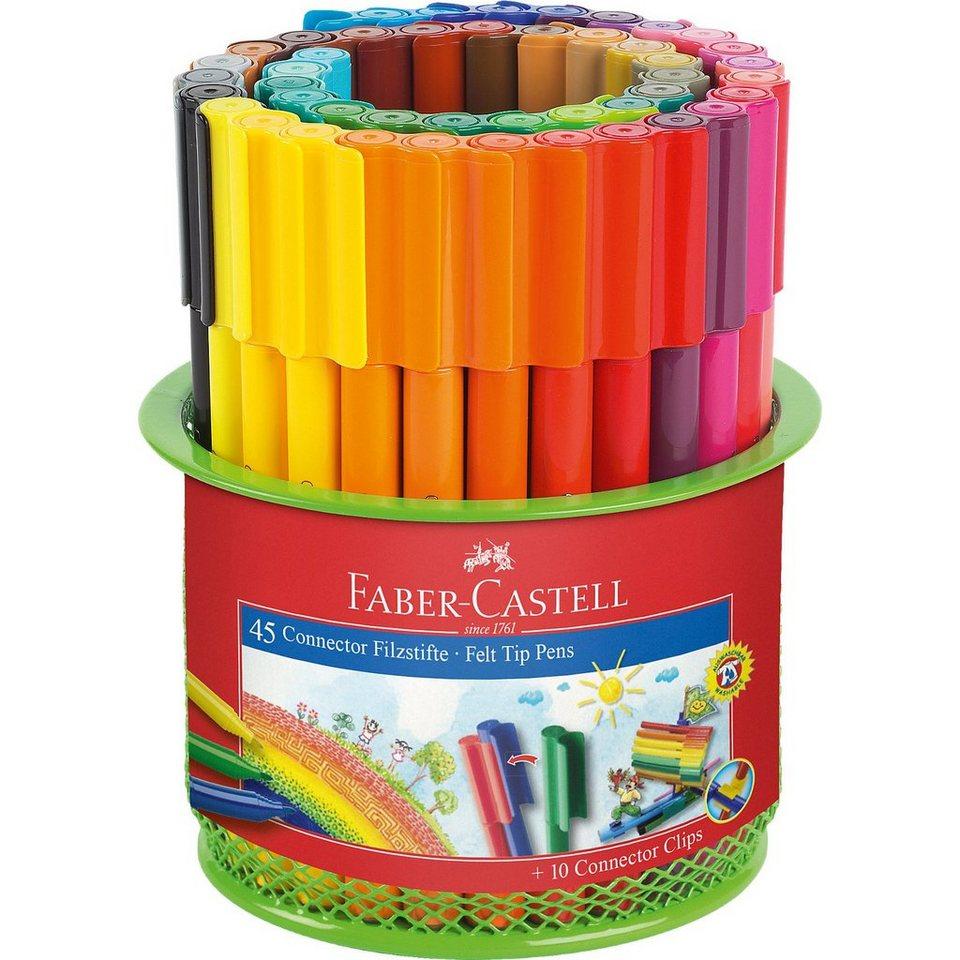 Faber-Castell CONNECTOR Pen - Köcherset, 56-tlg.
